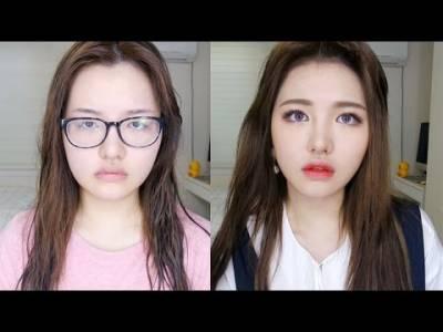 韓國宅女九個步驟立刻變「周子瑜」,鼻子變型 眼睛變大...真的太強大啦!