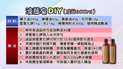 用「水晶肥皂」洗頭3個月後幾乎沒有掉髮?!9個步驟,你也可以DIY液態皂...