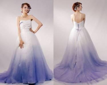 不想要一成不變的婚紗?渲染白色婚紗讓妳「仙氣破表」!漸層的裙襬看起來就像童話故事的公主阿~