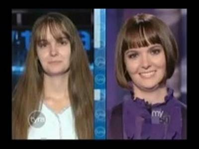 這個一生都沒剪過頭髮的女子常被笑長得像老太婆!沒想到一刀剪下,觀眾都為她「不可思議的美麗」尖叫了!