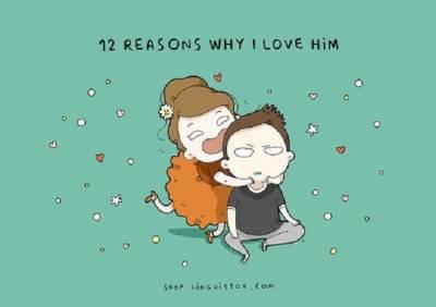 他讓我可以更新臉書的交友狀態!「我愛他的12個理由」插畫讓你直呼太中肯