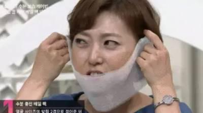 韓國美容師獨創簡易「半臉紗布面膜」!小V臉就這樣現身了...