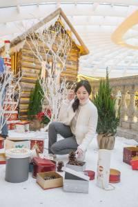 愛在白色耶誕冬日甜美風格穿搭
