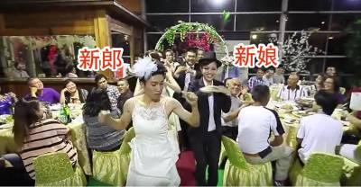 新郎新娘互換服裝入場賓客全傻住,接下來他們馬上讓全場來賓都嗨翻啦!