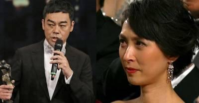 劉青雲跟太太結婚17年零緋聞,卻被記者酸問:「很難生嗎?」結果拿獎時「公佈答案」!答案讓太太落淚,記者臉丟大了!