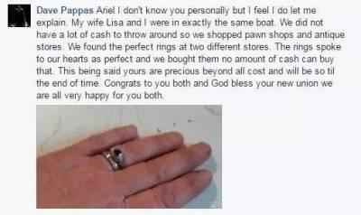 他只花130元給女友買婚戒,被店員鄙視,沒想到結果變這樣!