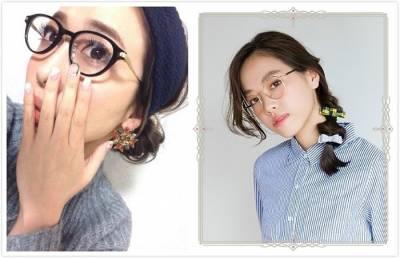 輕輕鬆鬆就能變可愛♪適合眼鏡的簡單髮型♡