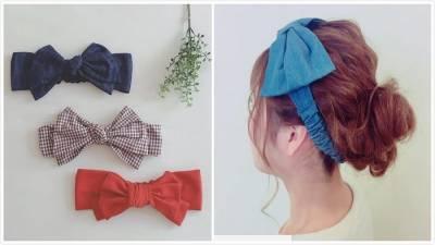就是要用大髮飾展現小顏感♡「蝴蝶結髮帶」編髮造型精選♪
