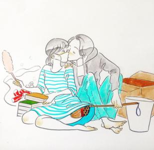 有點A又不會太A!以羅曼情慾風格描繪的情侶日常插畫