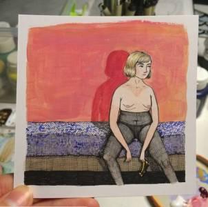 她每天畫一張女孩羞羞的日常,365天后,10萬粉絲被她撩得情不自禁