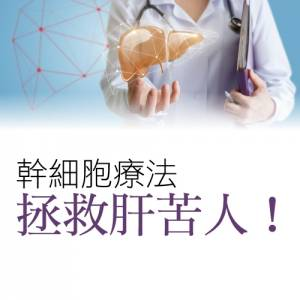 幹細胞療法 拯救肝苦人!