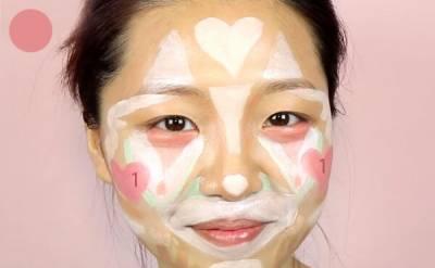 將臉畫成小丑,海綿拍開居然變「韓系水光肌」!從此出門修容 打光一次解決
