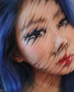 這個女孩說她要「用化妝讓人下巴掉下來」沒人理她,但她完成的這7張「超震撼錯覺妝」讓網友都跪倒在地了!
