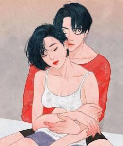 5張「絕對不能在上班上課的時候偷看」的成人戀愛情趣插畫, 4 原來要遮不遮才是最性感的!