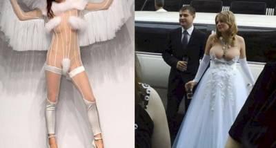 6件「婚都還沒結完新郎就逃之夭夭」的超瞎婚紗設計。 3 這套「透視婚紗」真的讓人超受不鳥...