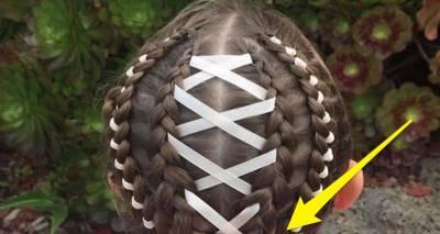 媽媽擁有「超強大的編髮技能」,女兒在某天上學後,被看到「她頭髮的下面」後,從此一炮而紅