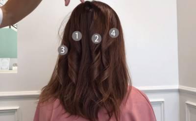 馬尾背面好普通?!3招,教你電棒捲夾4搓,原來夾完髮絲絕對不能撥...