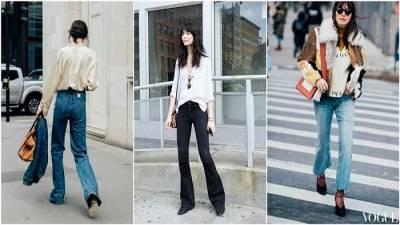 2017牛仔褲要這樣穿! 小個子女孩最適合穿喇叭褲修飾身型