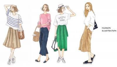 跟著日本時尚插畫家saeko 學一周日系穿搭