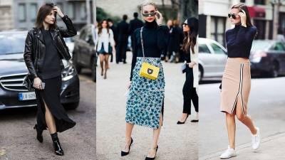 開岔裙的3種穿搭法!不僅夏天時髦,換個穿法還能一年四季都時尚...