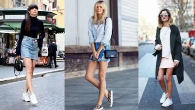 「迷你裙+球鞋」性感加點小俏皮!今年必學的4種「球鞋+裙子」穿搭法,讓你一路唯美到秋冬...
