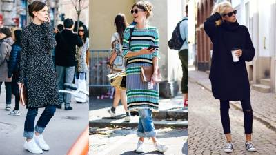 針織裙又熱又顯胖?今年秋冬用一件針織連身裙穿出顯瘦風格