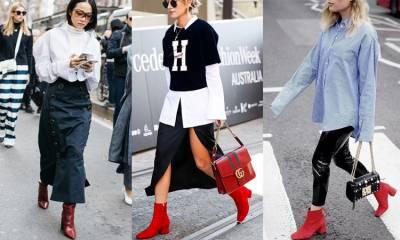 天氣寒冷也要穿得火熱,流行的火紅跟鞋如何穿得時尚不誇張