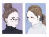 日本這位博主每天更新一張插畫,網友卻被人物髮型和穿搭驚艷了:可參考性太高!