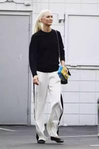 闊腿褲+平底鞋,2018開春流行這麼穿!