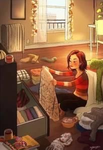 她畫出了單身女生的日常,引36萬人圍觀,原來一個人也能活得如此美好