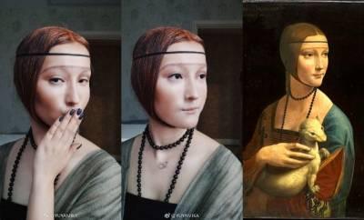 根本達文西轉世!神人級仿妝部落客完美化身真人名畫,蒙娜麗莎 東西洋名人,全都難不倒她!