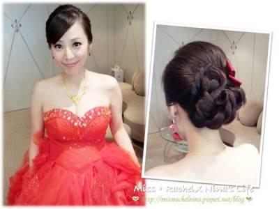 零死角的韓式新娘盤髮