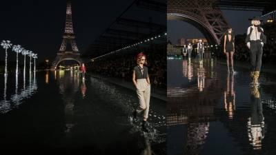 影/聖羅蘭春夏大秀,水光鐵塔一色,展現越夜越不羈的魅惑精神!