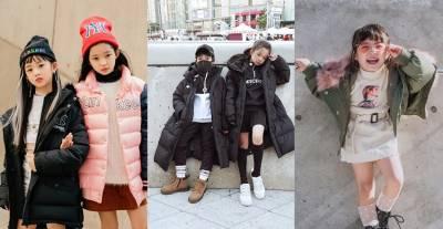 小屁孩穿格紋超可愛~《2019首爾時裝周》場外屁孩穿得比大人還潮!