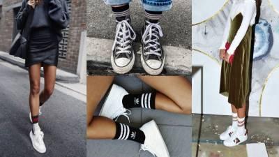 穿對襪子,一秒躍升時尚達人!原來「長襪」才是腳踝顯瘦的秘密武器!