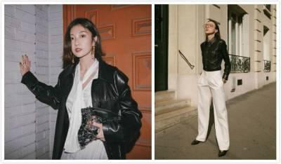 打破黑色皮革夾克的既定形象,玩出百變風格的時髦裝束!