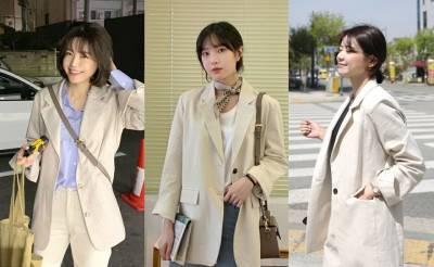 韓星早春都在穿這款!軟萌奶茶色 格紋西裝外套這一季絕對必收!