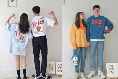 韓國情侶裝這樣穿!七夕穿搭提案,就是想當顆閃光彈,到處甜蜜放閃!