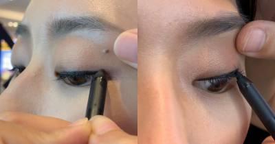 眼睛打開眼線還在!內雙眼線怎麼畫?掌握3大重點,彩妝師1對1教學「在這裡」