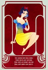 每位女孩都是一顆寶石 12個月份的迪士尼公主插畫