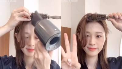 韓國設計師親授,「維持整天蓬鬆」長瀏海吹整方法,只需10秒,瀏海蓬鬆8hr↑!