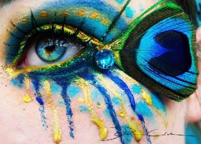 靈魂之窗的藝術:德國藝術家Svenja Jödicke的眼部彩繪