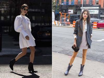 泫雅的大媽時尚?關於秋冬的小俏皮~牛仔靴意外百搭,套上去就有時髦俏妞樣...