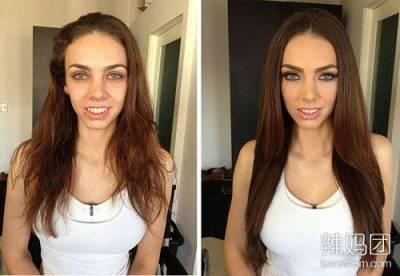 「沒有醜女人,只有懶女人」,化妝前後驚人變化