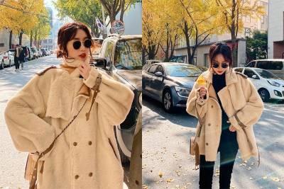 秋冬羔羊毛OOTD胖的可愛才時尚!比羽絨衣更能耍Q,今年保暖就靠毛毛單品!|穿搭推薦