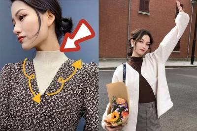 劉詩詩天鵝頸穿上《高領上衣》超搭時尚感!單穿看身材,內搭疊穿超有型~|穿搭技巧