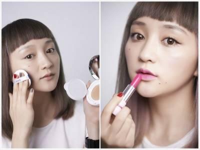 網模Ciacia示範街頭韓系妝容