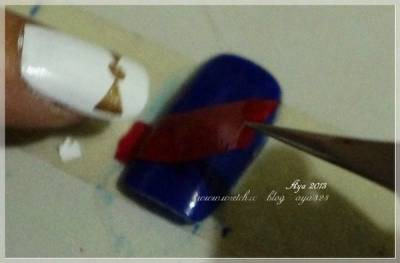 【美甲】意外領到的水美媒來店禮~激起彩繪興致 英國國旗彩繪 超簡單的方法不怕手殘唷~^^Y