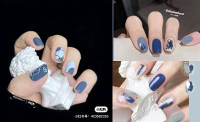 2021美甲流行色推薦「藍莓色」!3大光療趨勢推薦,台灣人顯白靠這款