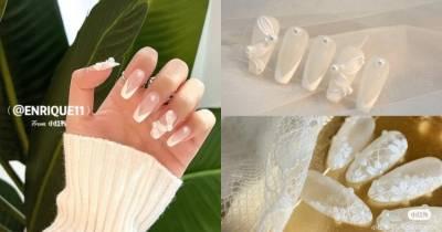 2021新娘美甲推薦!5款「白色系」光療造型,法式蕾絲 水晶冰塊...這款男人看到就想娶回家